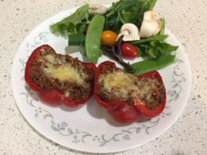 fast low carb meals stuffed capsicums